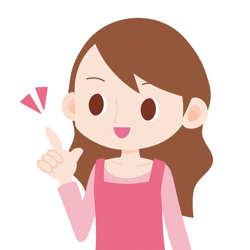 指を立てている女性のイラスト ...