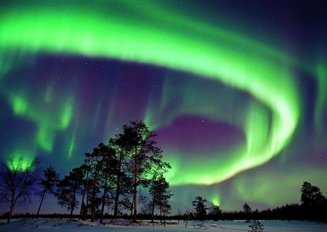 フィンランドで見るオーロラ ...