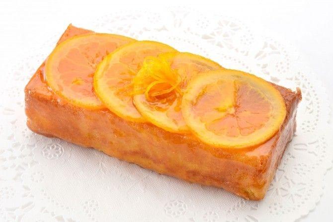 オレンジが乗ったお菓子