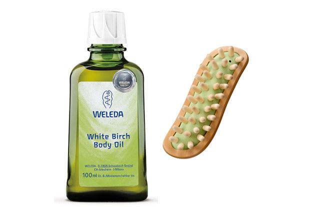 【プレゼント】WELEDA「ホワイトバーチボディオイルとボディシェイプブラシのセット」【1名様】