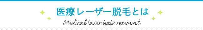 医療レーザー脱毛とは Medical laser hair removal