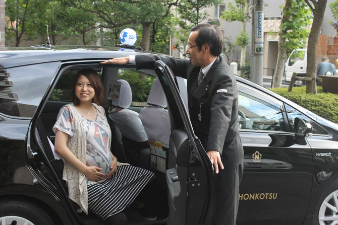 JIN-TSU TAXI 陣痛タクシー(日本交通株式会社)