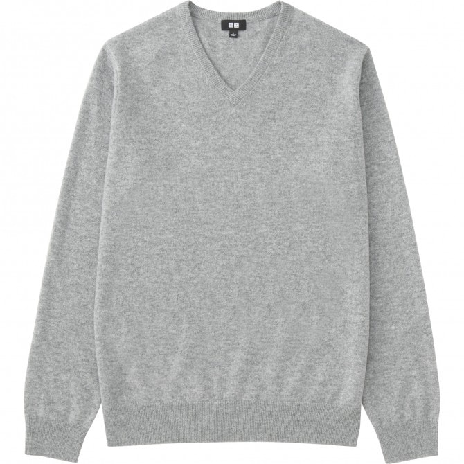 MEN カシミヤVネックセーター(長袖)10,789円(税込み)
