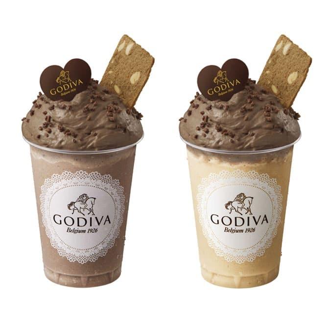 「デザートドリンク ムースショコラ ミルクチョコレート」「デザートドリンク ムースショコラ カフェ ワッフル」
